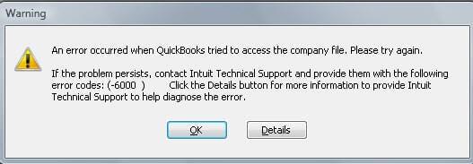 QUikcbooks Error 6000