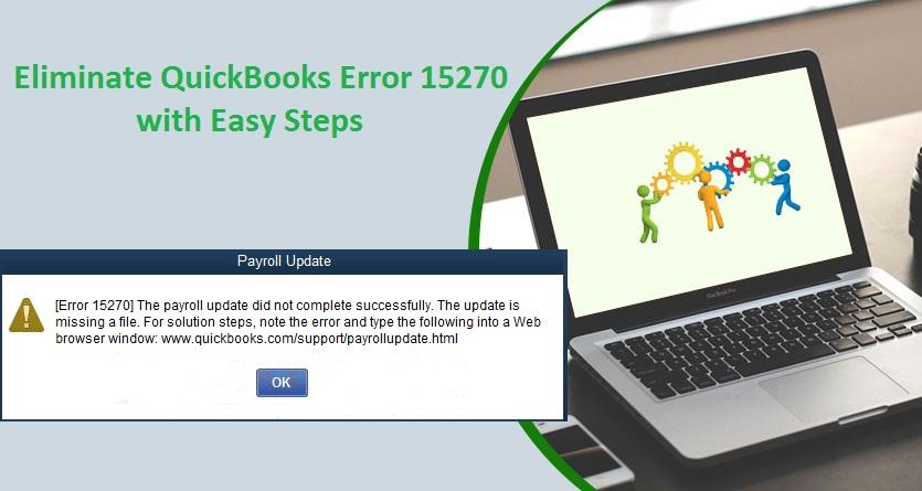 Quickbooks error 15270